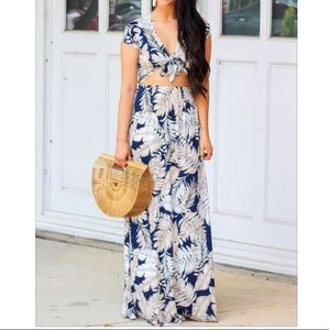 NWT palm print maxi dress
